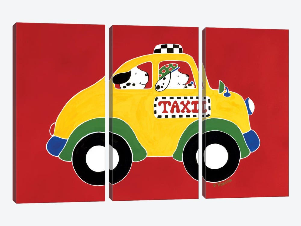 TAXI! by Shelly Rasche 3-piece Canvas Art Print