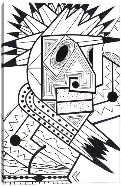 Jam In Brooklyn (Black And White) Canvas Art Print