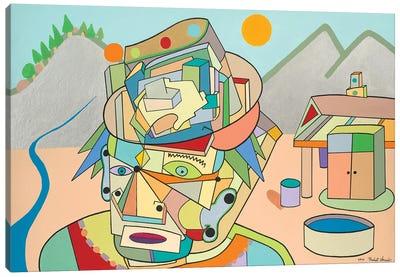 Man In Jah Hills Canvas Art Print