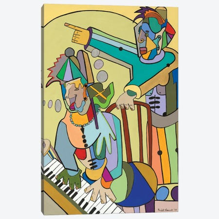 Ragtime Scene Canvas Print #RAX6} by Ruchell Alexander Canvas Wall Art