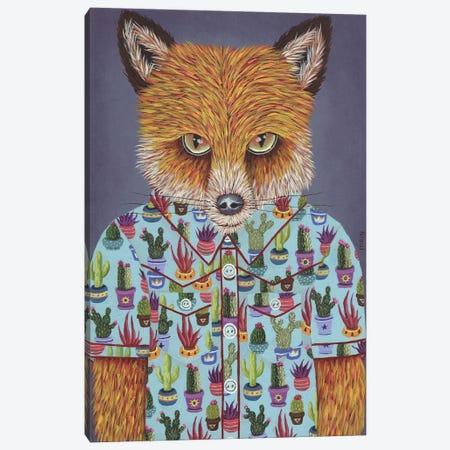 Martin's Succulent Shirt Canvas Print #RAY10} by Marisa Ray Canvas Wall Art