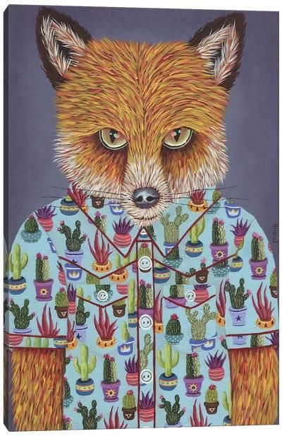 Martin's Succulent Shirt Canvas Art Print
