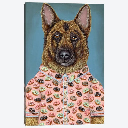 Sarge's Donut Shirt Canvas Print #RAY15} by Marisa Ray Art Print
