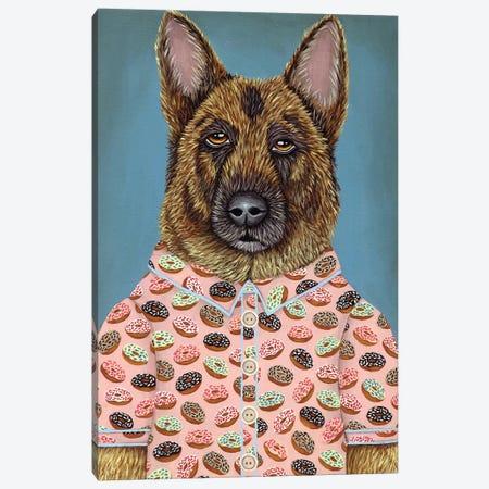 Sarge's Donut Shirt Canvas Print #RAY15} by Marisa Ray Art Print