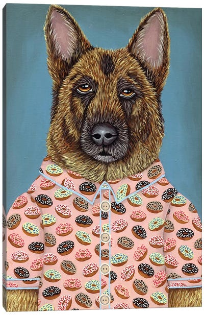 Sarge's Donut Shirt Canvas Art Print