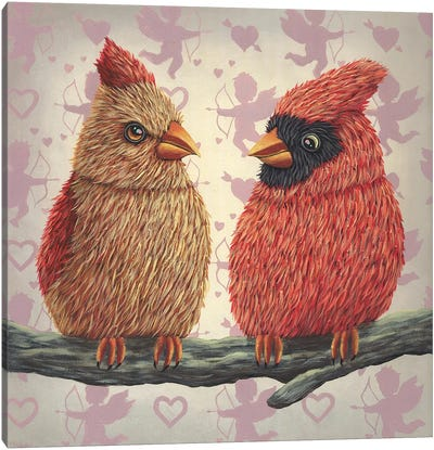 When Two Lovers Meet II Canvas Art Print