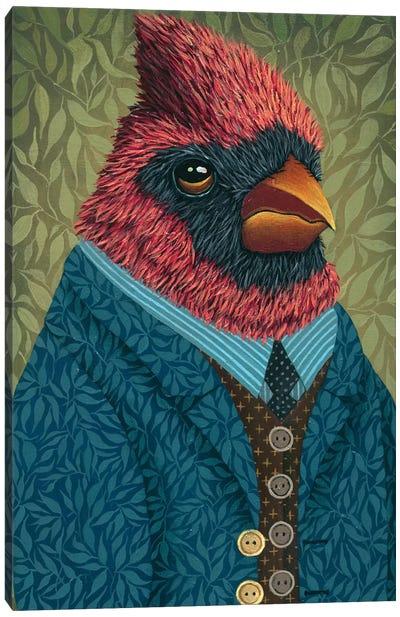 Garden Portraits-Cardinal #3 Canvas Art Print