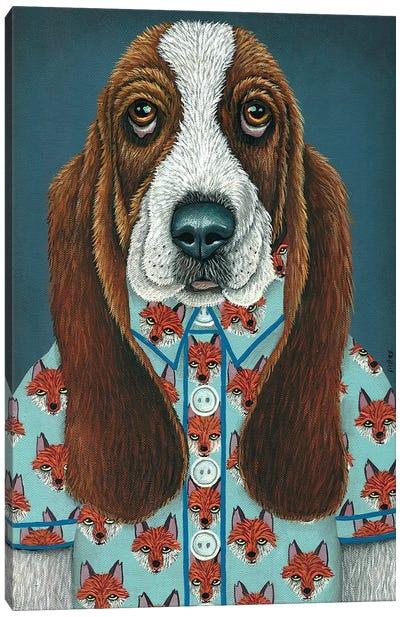 Barney's Fox Shirt Canvas Art Print