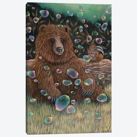 Baby Bear Makes a Friend Canvas Print #RAY3} by Marisa Ray Canvas Artwork