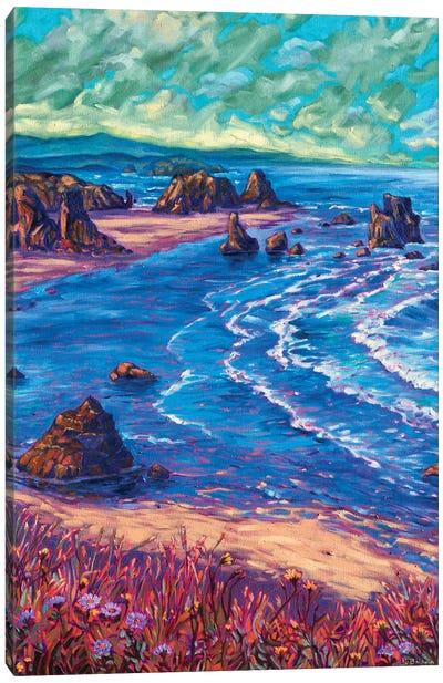 Dawn Beach Walk Canvas Art Print