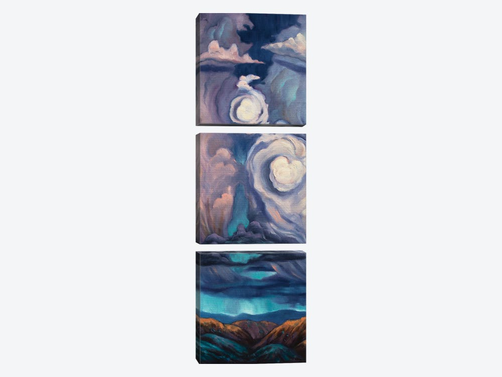Heart Of The Storm by Rebecca Baldwin 3-piece Canvas Print