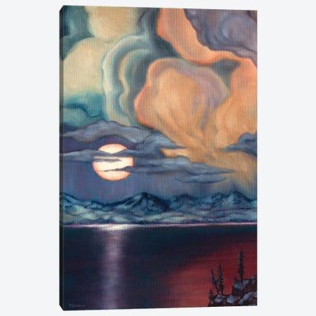 Apricot Moon Canvas Print #RBC1} by Rebecca Baldwin Canvas Art