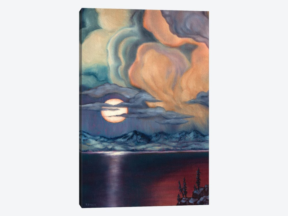 Apricot Moon by Rebecca Baldwin 1-piece Canvas Wall Art