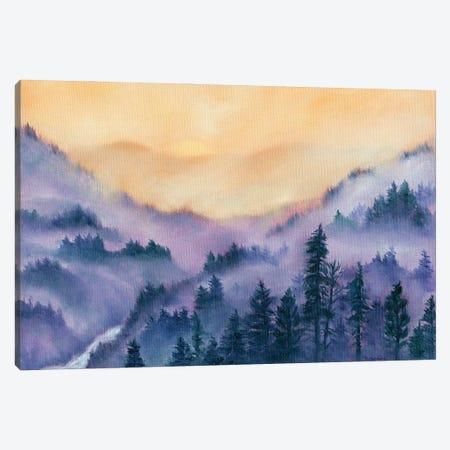 Mountain Morning Canvas Print #RBC33} by Rebecca Baldwin Canvas Art