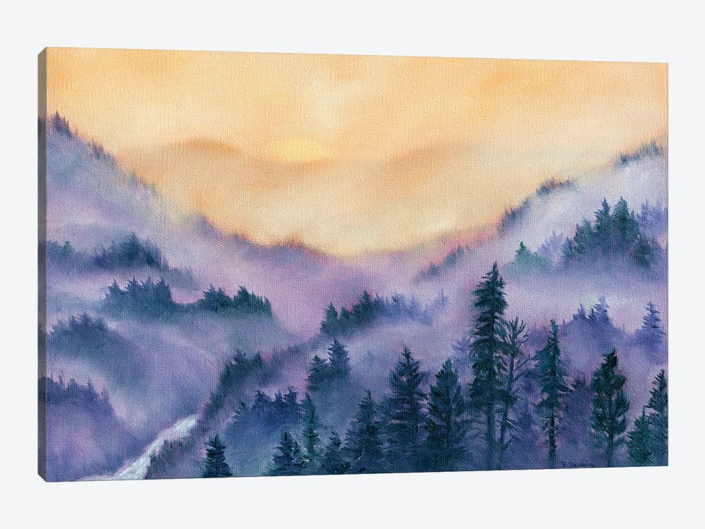 Mountain Morning by Rebecca Baldwin 1-piece Canvas Art Print