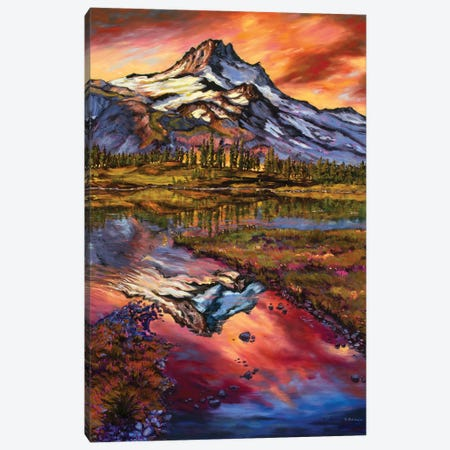 Mt Jefferson Magic Canvas Print #RBC35} by Rebecca Baldwin Canvas Print