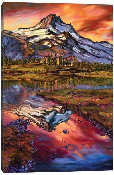 Mt Jefferson Magic Canvas Art Print