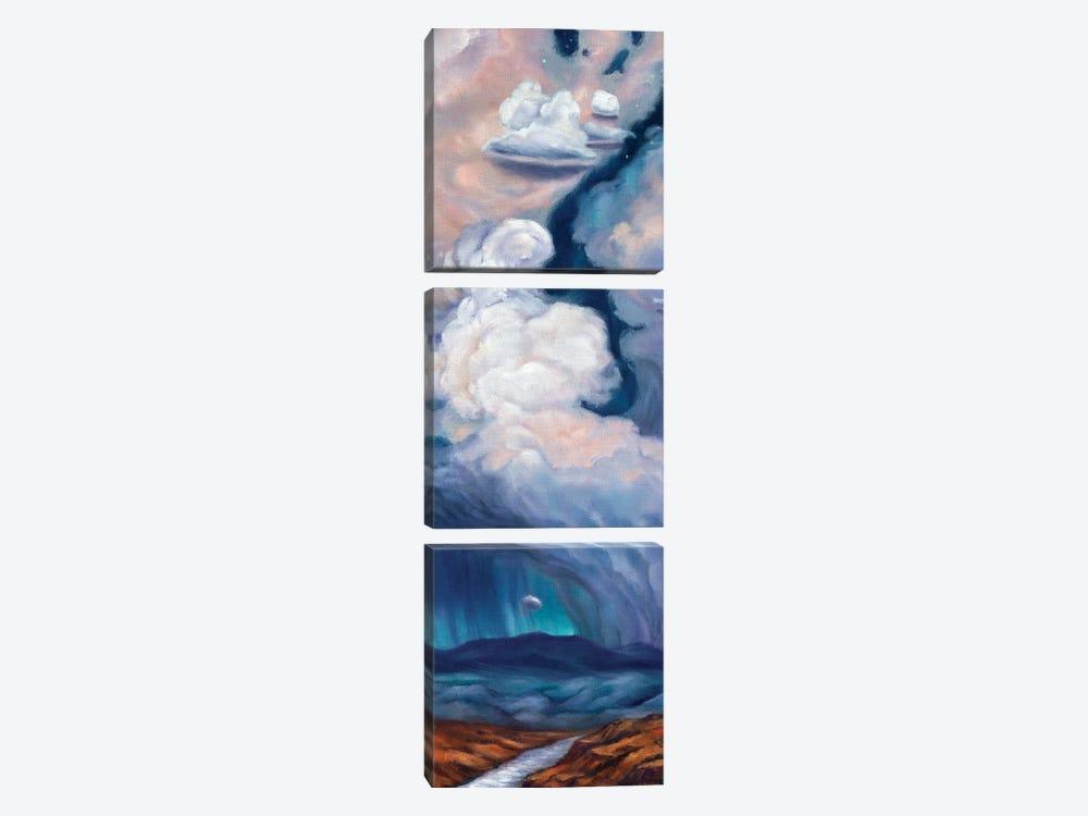 Purple Rain by Rebecca Baldwin 3-piece Art Print
