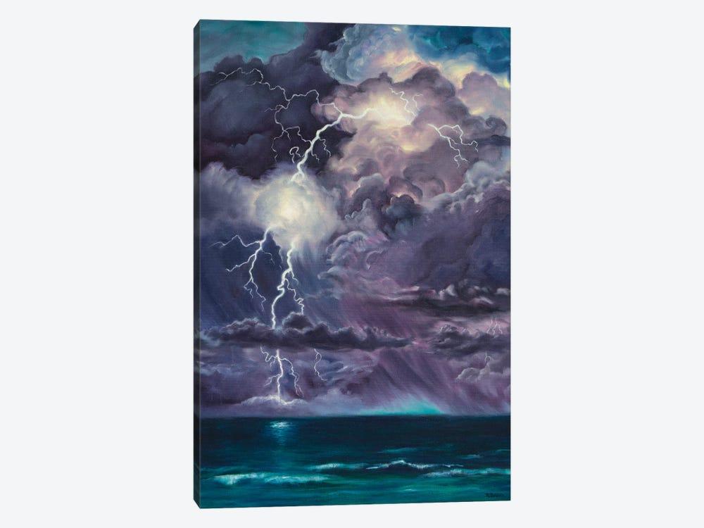Purple Storm by Rebecca Baldwin 1-piece Canvas Print