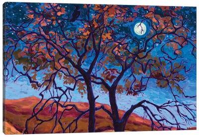 Raven Moon Canvas Art Print