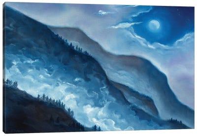 Rising Fog Canvas Art Print