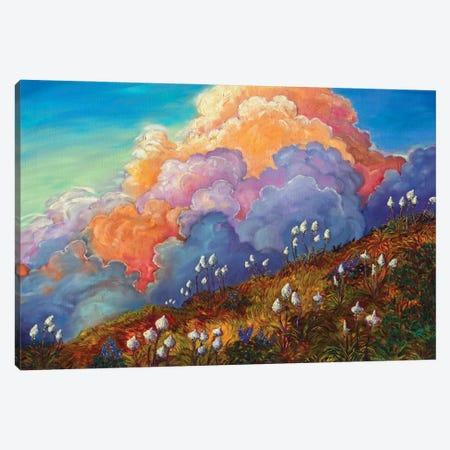 Skyline Bear Grass Canvas Print #RBC46} by Rebecca Baldwin Canvas Artwork