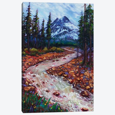 Spring Snowmelt Canvas Print #RBC47} by Rebecca Baldwin Canvas Wall Art
