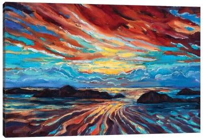 Beach Sunset Canvas Art Print