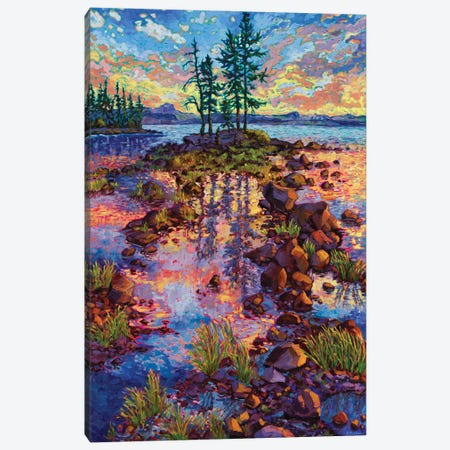 Waldo Lake Reverie Canvas Print #RBC53} by Rebecca Baldwin Canvas Wall Art