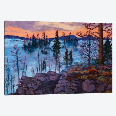 Winter Ridge Canvas Print #RBC55} by Rebecca Baldwin Canvas Print