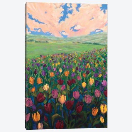 Tulip Joy Canvas Print #RBC59} by Rebecca Baldwin Canvas Wall Art