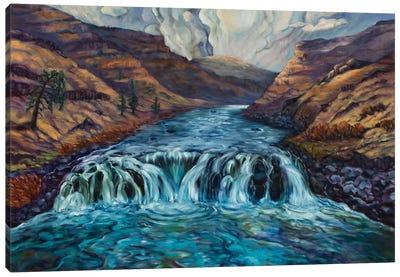 Canyon Clouds Canvas Art Print