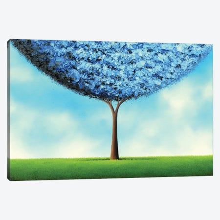 Endless Blue Canvas Print #RBI26} by Rachel Bingaman Canvas Wall Art