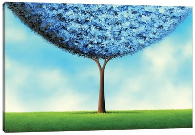 Endless Blue Canvas Art Print