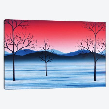 Winter Beckons Canvas Print #RBI93} by Rachel Bingaman Canvas Artwork