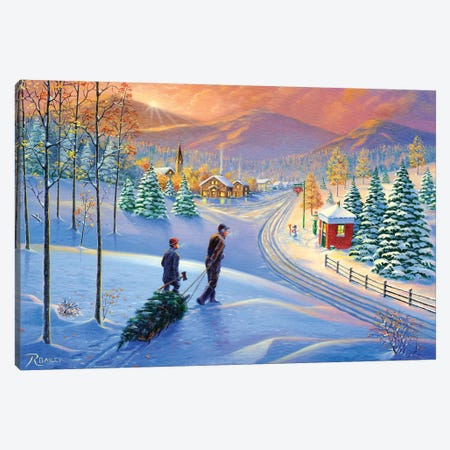 Holiday Tradition Canvas Print #RBL21} by Rod Bailey Canvas Art