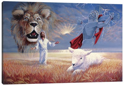 Lion And Lamb Canvas Art Print