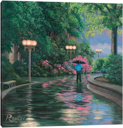 66 Plaza Stroll Canvas Art Print