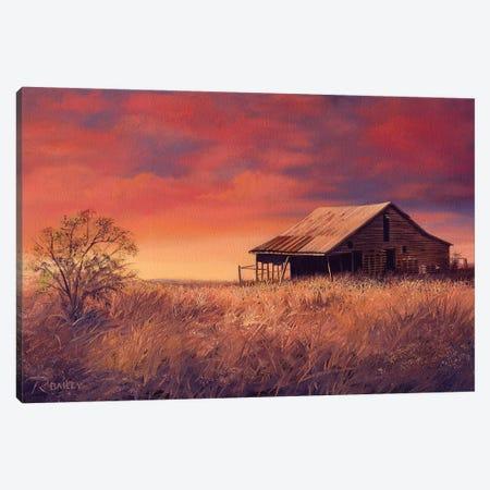 Osage Barn Canvas Print #RBL35} by Rod Bailey Canvas Wall Art