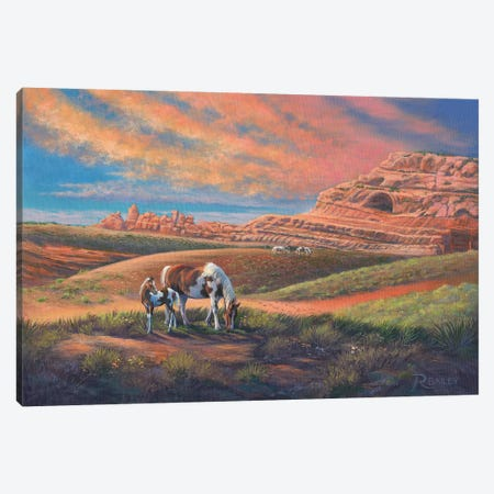 Paints Out West 3-Piece Canvas #RBL37} by Rod Bailey Canvas Art