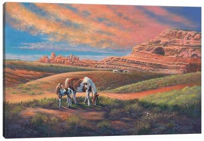 Paints Out West Canvas Art Print