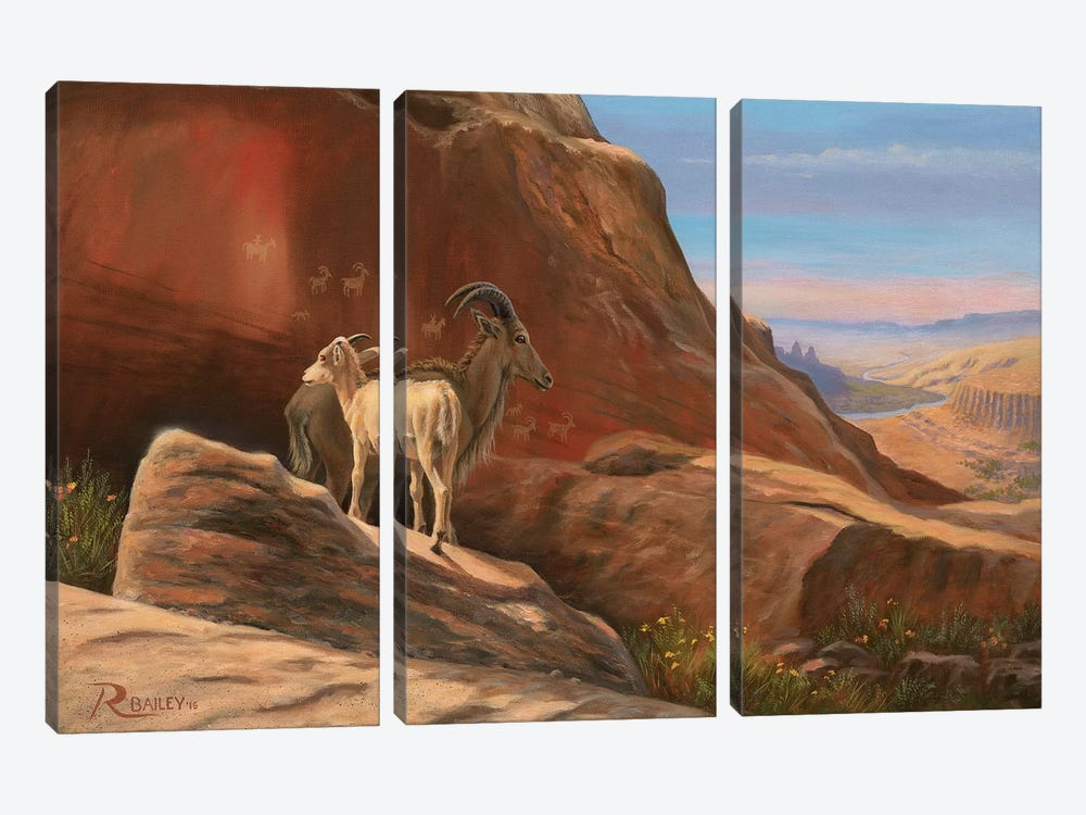 Traversing Time by Rod Bailey 3-piece Canvas Print