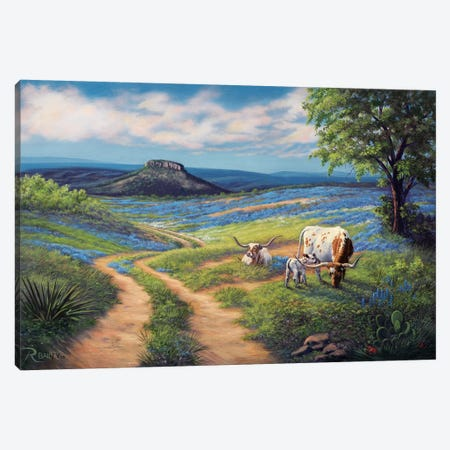 Bluebonnet Life Canvas Print #RBL7} by Rod Bailey Canvas Art