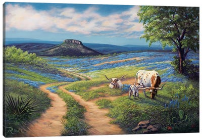 Bluebonnet Life Canvas Art Print