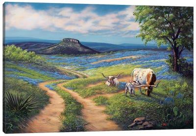 Bluebonnet Life Canvas Art Print