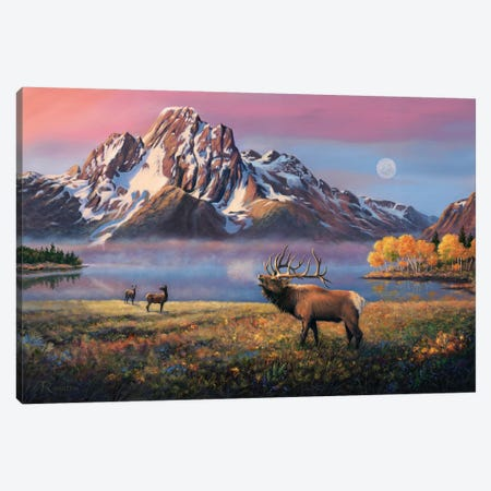 Courting Mt Moran Canvas Print #RBL8} by Rod Bailey Canvas Art Print