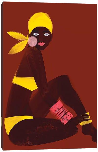 Amber Sun Canvas Art Print