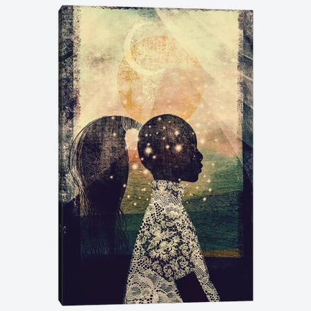 The Sun, Stars and Moon Canvas Print #RBN22} by Erin K. Robinson Canvas Artwork
