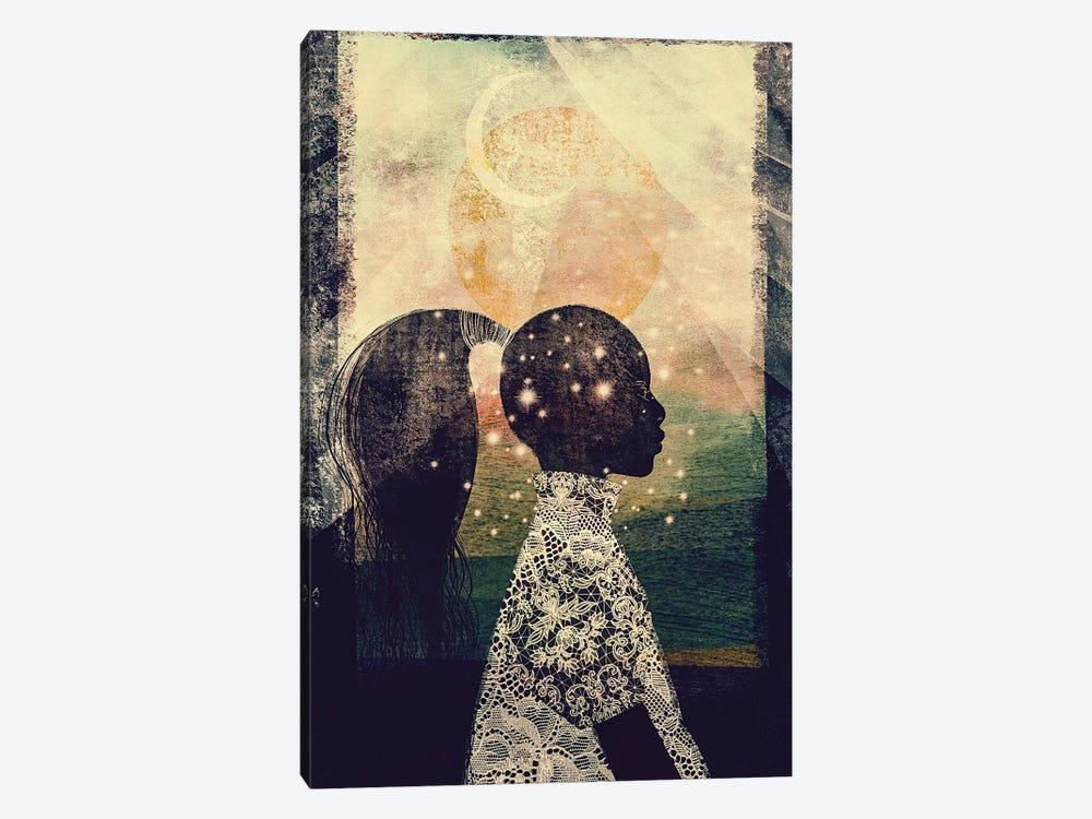 The Sun, Stars and Moon by Erin K. Robinson 1-piece Canvas Art