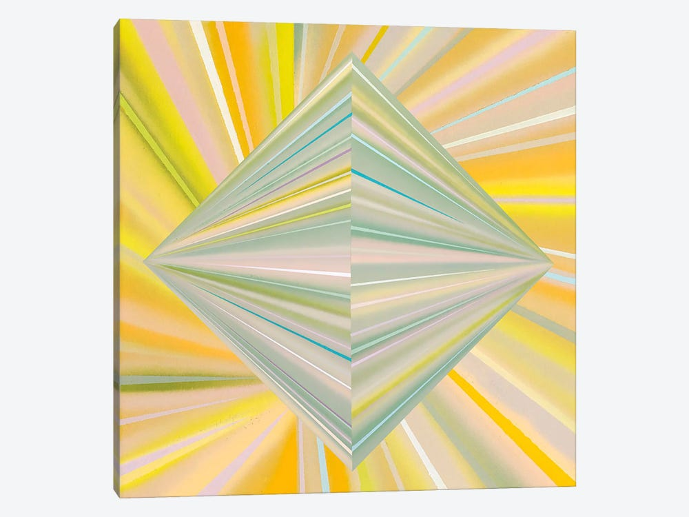 Reappearance of Geometric Perception 1-piece Canvas Wall Art